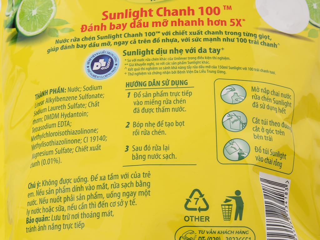 Nước rửa chén Sunlight Chanh 100 chiết xuất chanh 2.6kg 4