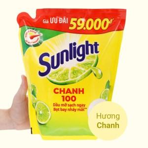 Nước rửa chén Sunlight Chanh 100 chiết xuất chanh tươi túi 2.5 lít