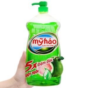 Nước rửa chén Mỹ Hảo 5X đậm đặc hương bưởi chai 1.5kg