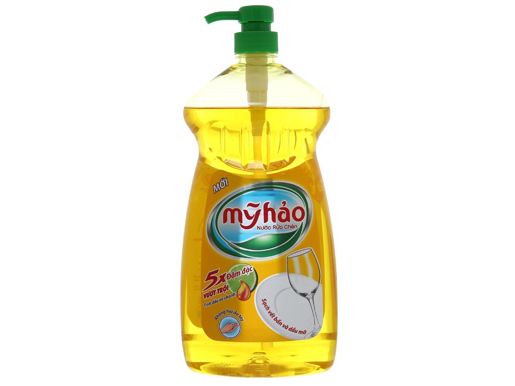 Nước rửa chén Mỹ Hảo 5X đậm đặc tinh dầu vỏ chanh 1.5kg 2