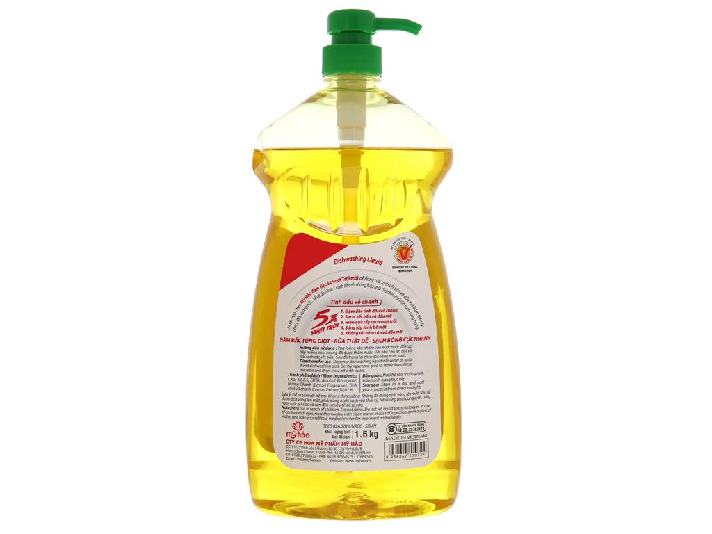 Nước rửa chén Mỹ Hảo 5X đậm đặc tinh dầu vỏ chanh 1.5kg 3