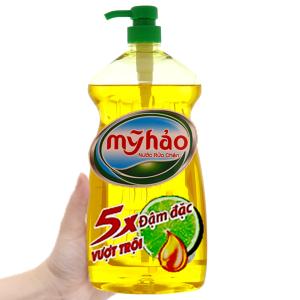 Nước rửa chén Mỹ Hảo 5X đậm đặc tinh dầu vỏ chanh chai 1.5kg