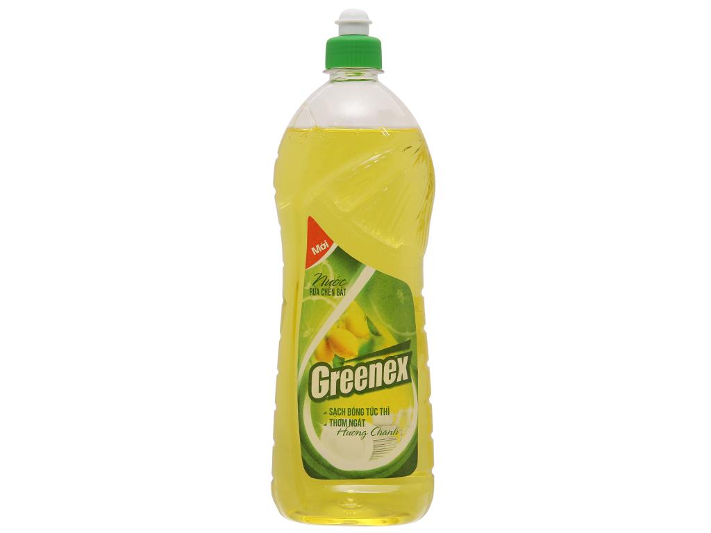 Nước rửa chén Greenex hương chanh chai 750g 2