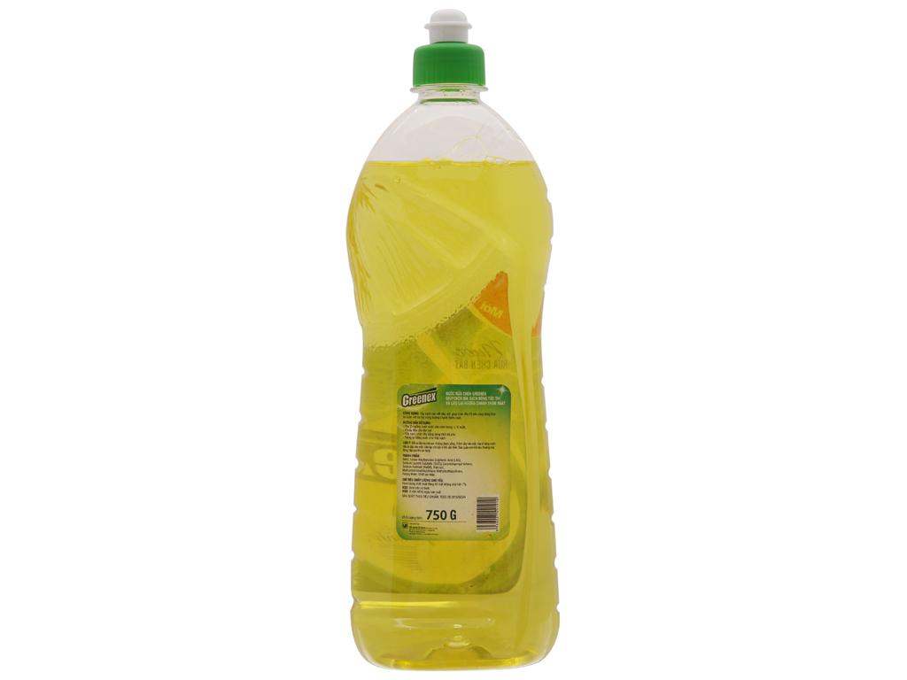 Nước rửa chén Greenex hương chanh chai 750g 3