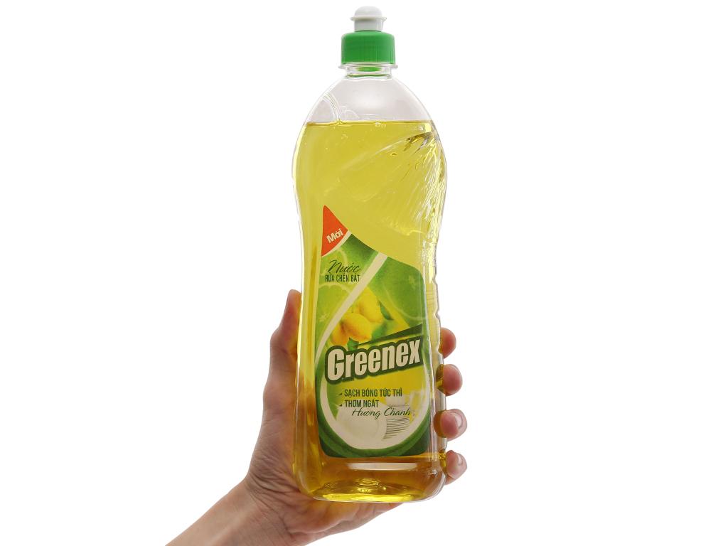 Nước rửa chén Greenex hương chanh chai 750g 5