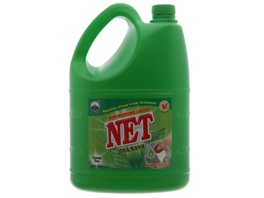 NET kháng khuẩn đậm đặc hương trà xanh can 4kg 2