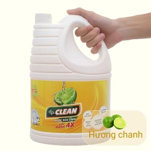 Nước rửa chén dp CLEAN sức mạnh 4X hương chanh can 3.8 lít