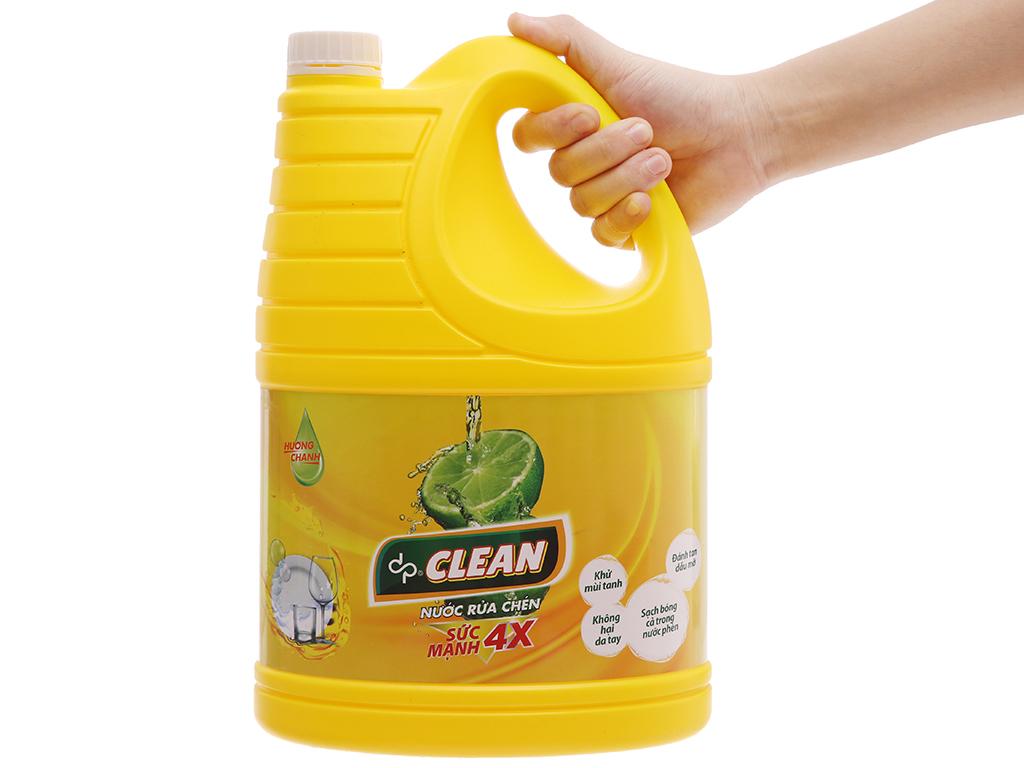 Nước rửa chén dp CLEAN Sức mạnh 4X hương chanh can 3.8L 4