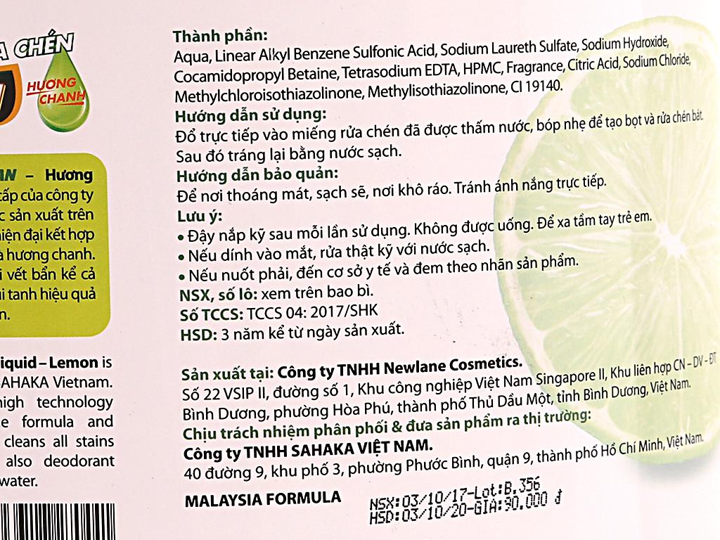 Nước rửa chén dp CLEAN Sức mạnh 4X hương chanh can 3.8L 5