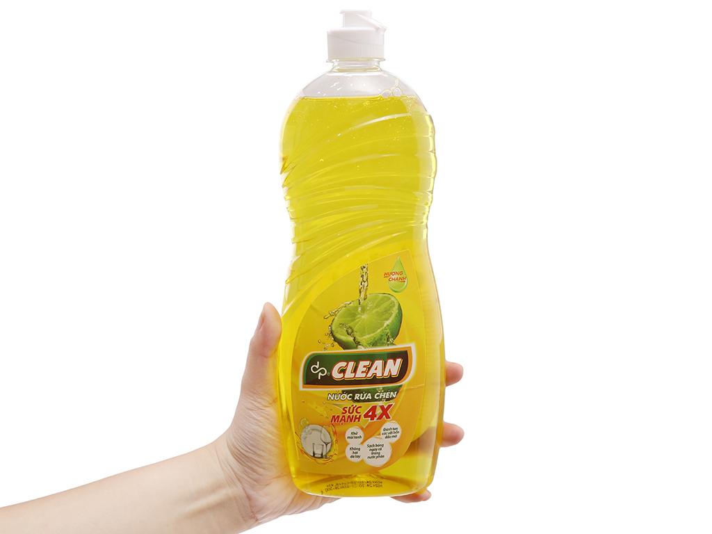 Nước rửa chén DPCLEAN Sức mạnh 4X hương chanh 750ml 4