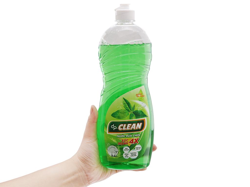 Nước rửa chén DPCLEAN Sức mạnh 4X hương trà xanh chai 750ml 4