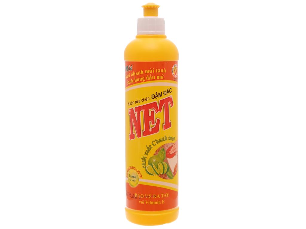 Nước rửa chén NET Đậm đặc hương chanh 400g 1