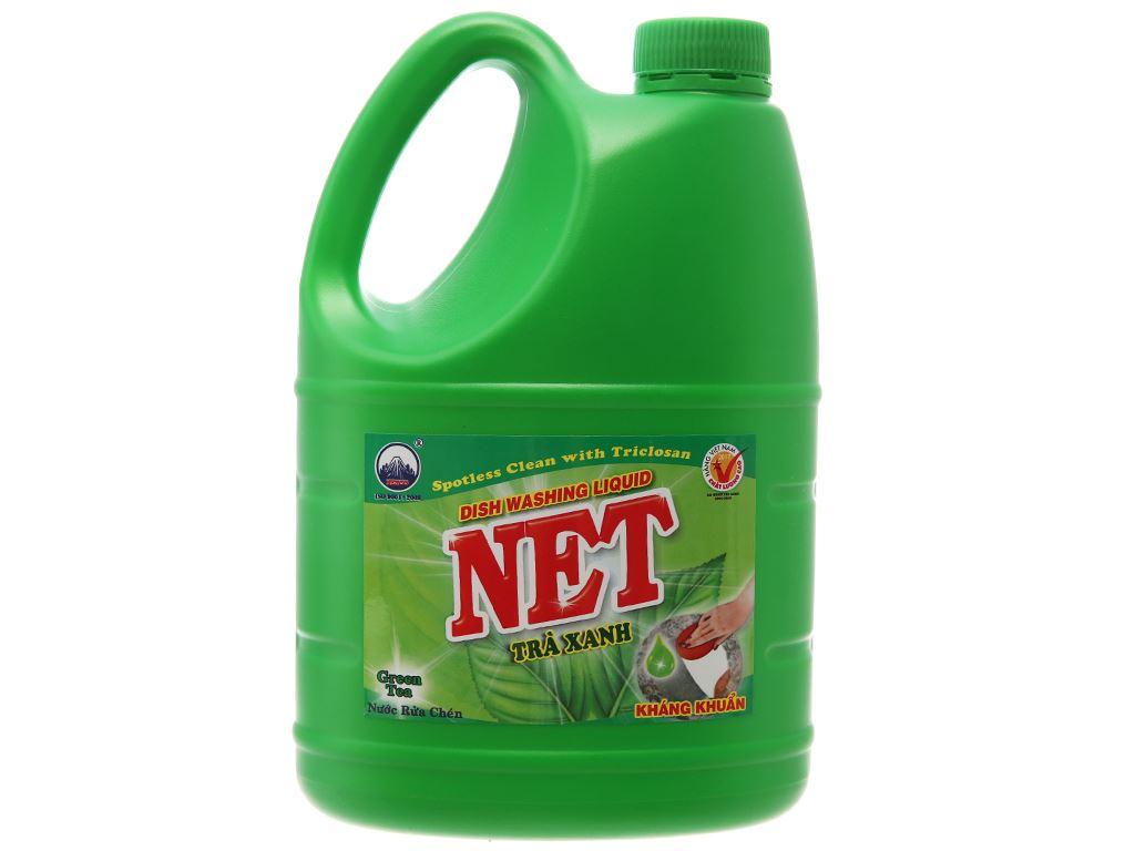 Nước rửa chén NET kháng khuẩn hương trà xanh can 1.46 lít 1