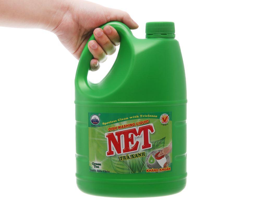 Nước rửa chén NET kháng khuẩn hương trà xanh can 1.46 lít 3