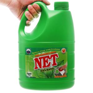 Nước rửa chén NET kháng khuẩn hương trà xanh can 1.46 lít