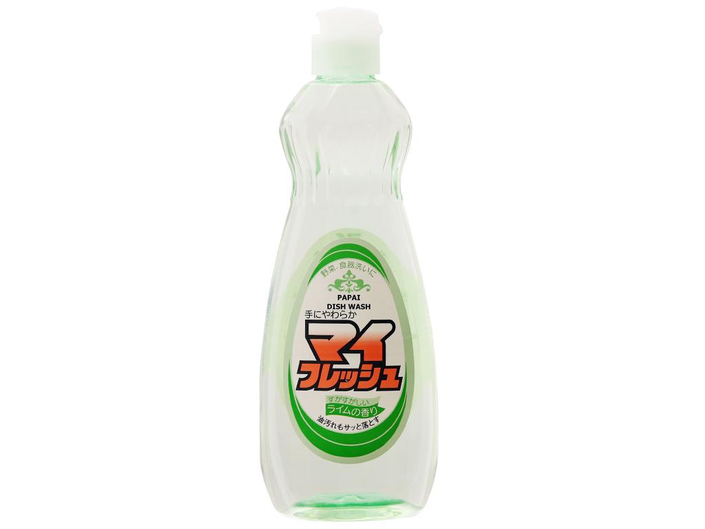Nước rửa chén PAPAI hương chanh chai 600ml 2