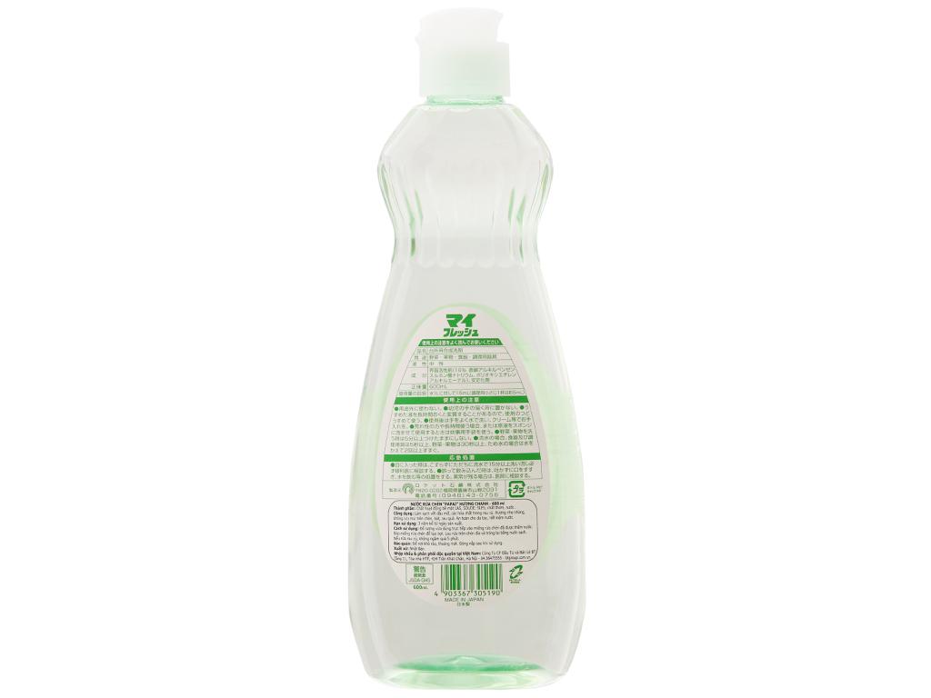 Nước rửa chén PAPAI hương chanh chai 600ml 3