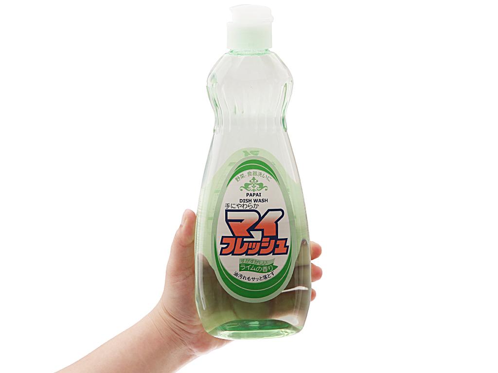 Nước rửa chén PAPAI hương chanh chai 600ml 4