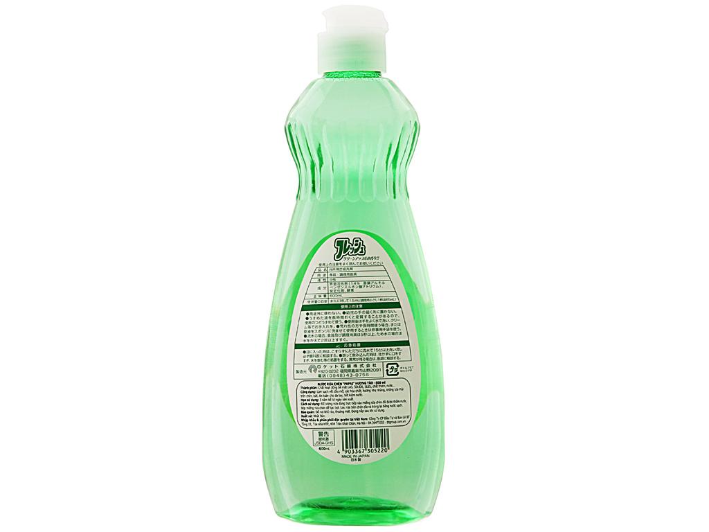 Nước rửa chén PAPAI hương táo chai 600ml 3
