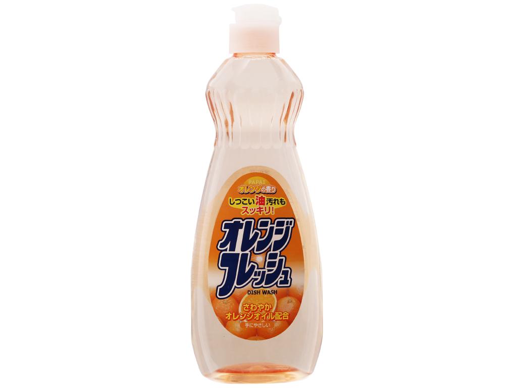 Nước rửa chén PAPAI hương cam 600ml 2