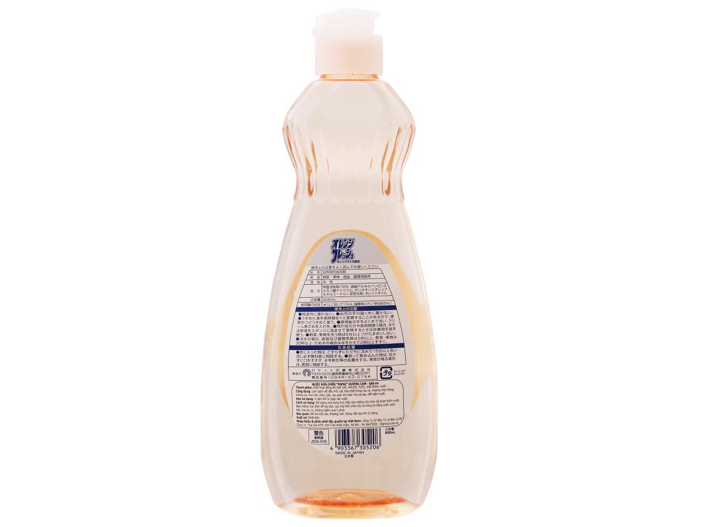 Nước rửa chén PAPAI hương cam chai 600ml 3