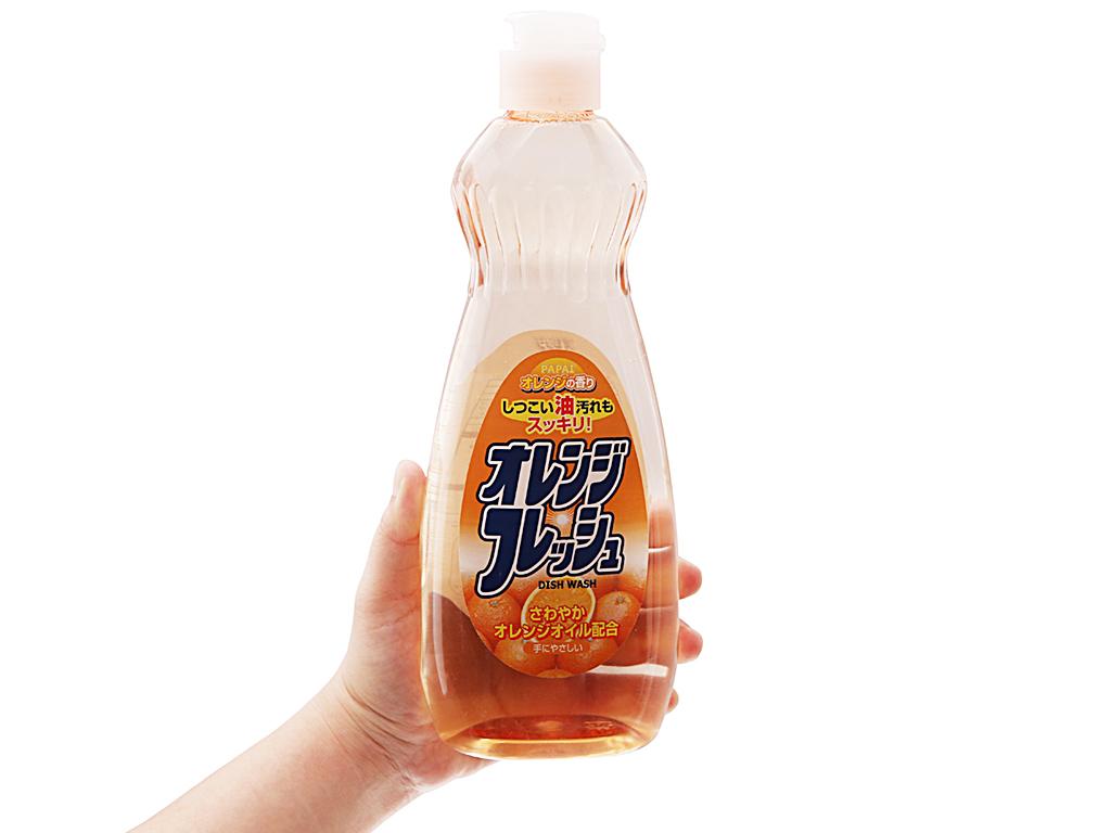 Nước rửa chén PAPAI hương cam 600ml 5