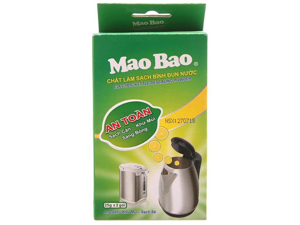 Chất làm sạch bình đun nước Mao Bao khử mùi & sạch cặn túi 25g x 2 gói 1