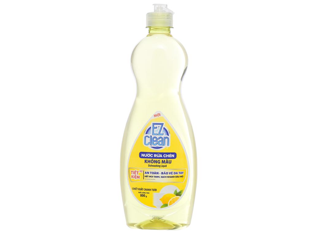 Nước rửa chén Ez Clean chiết xuất chanh tươi chai 800g 1