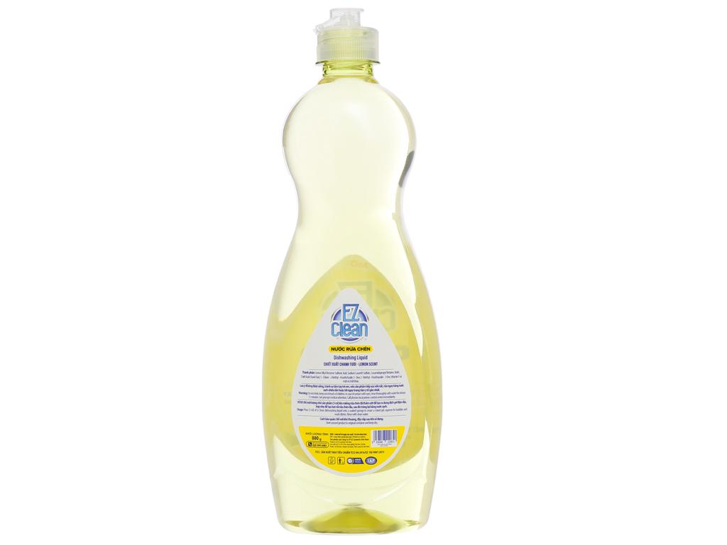 Nước rửa chén Ez Clean chiết xuất chanh tươi chai 800g 2