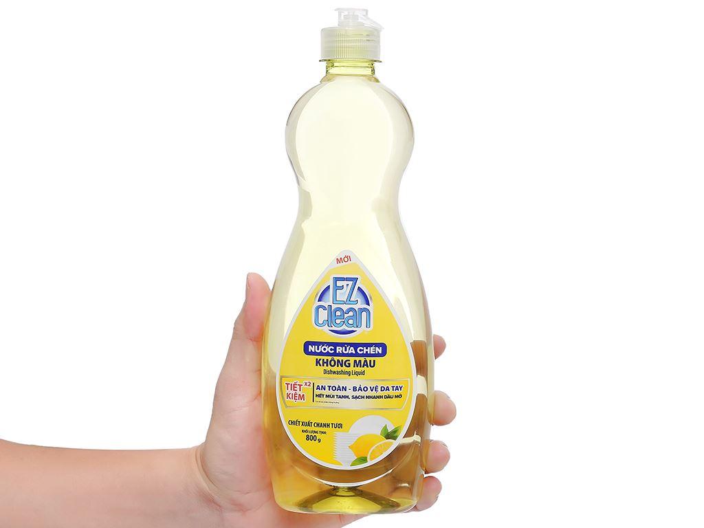 Nước rửa chén Ez Clean chiết xuất chanh tươi chai 800g 4