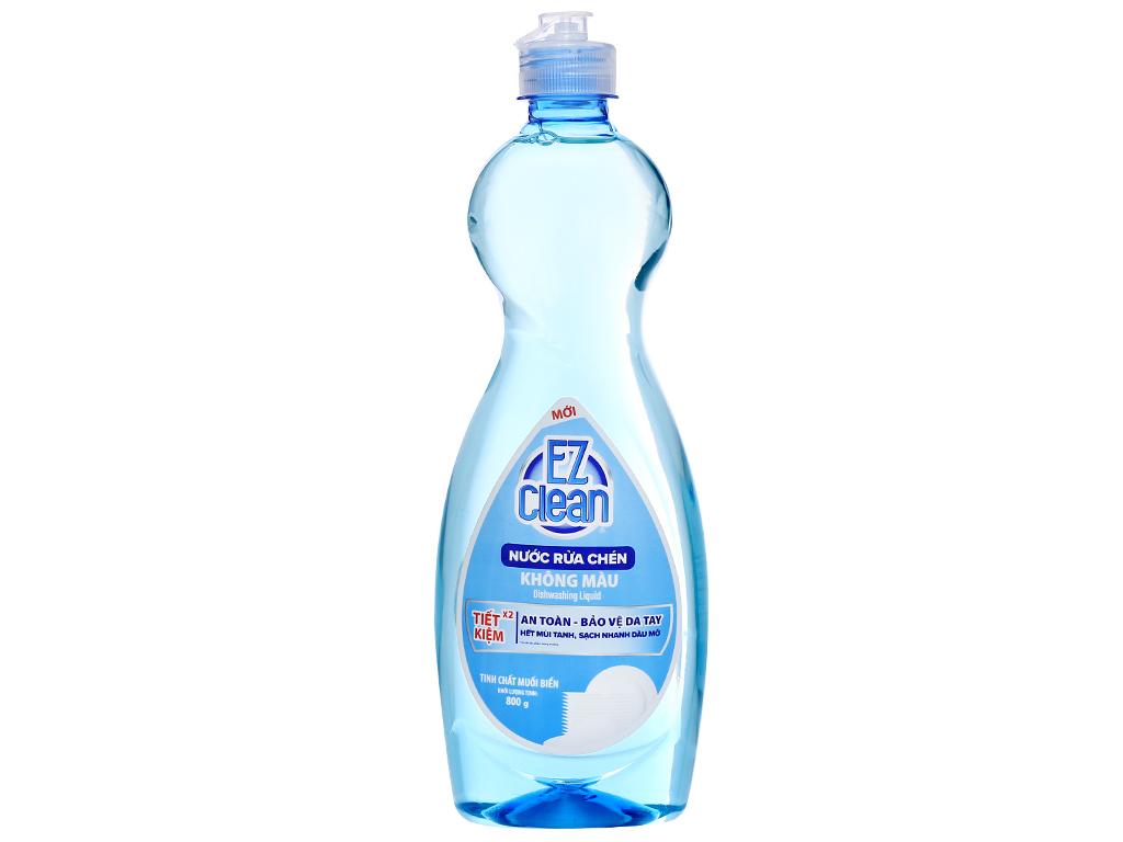 Nước rửa chén Ez Clean chiết xuất muối biển chai 800g 1