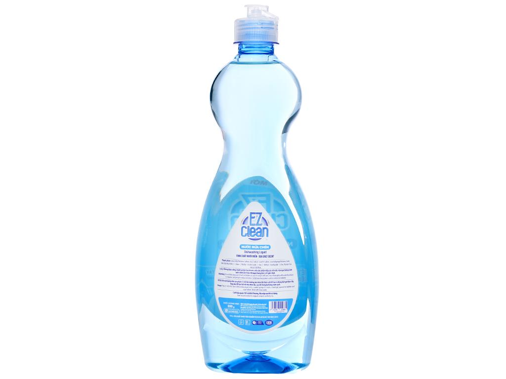 Nước rửa chén Ez Clean chiết xuất muối biển chai 800g 2