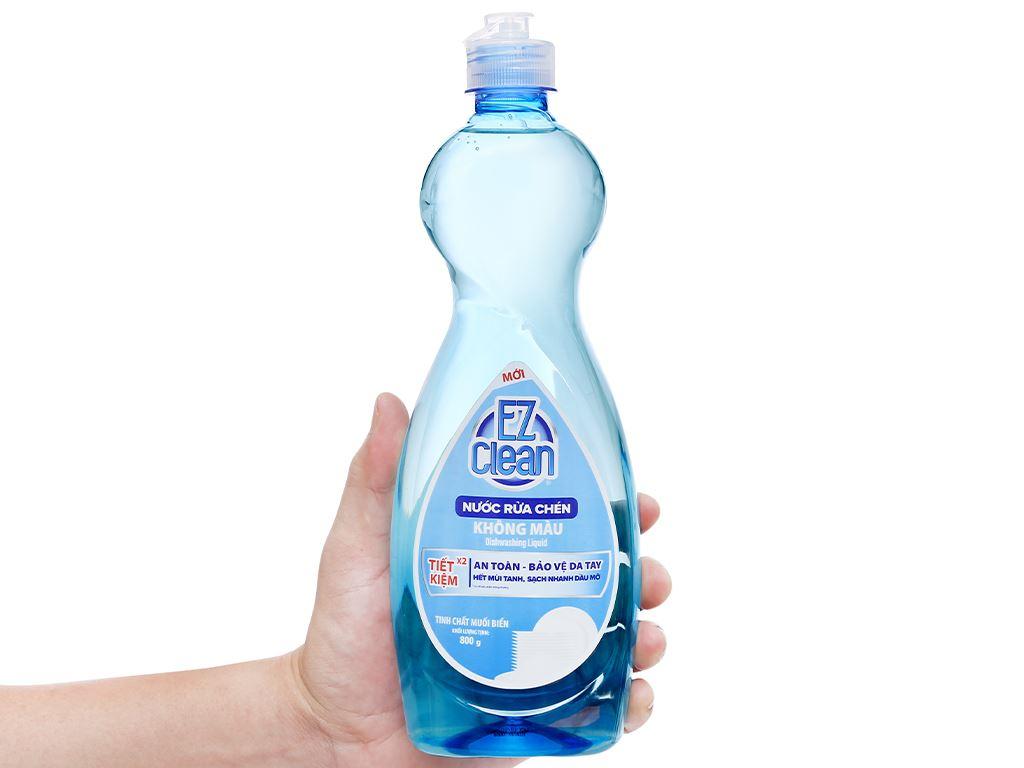 Nước rửa chén Ez Clean chiết xuất muối biển chai 800g 4