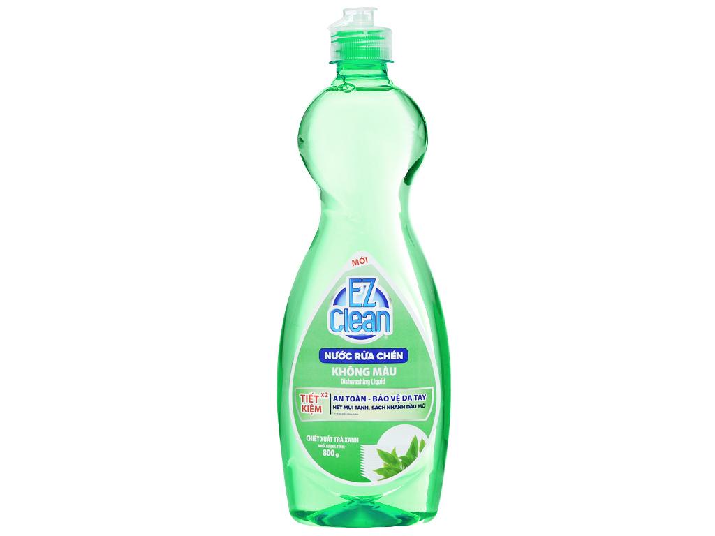 Nước rửa chén Ez Clean chiết xuất trà xanh chai 800g 1