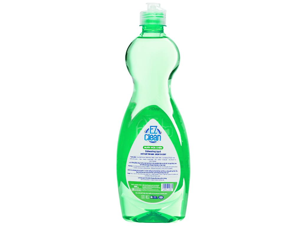 Nước rửa chén Ez Clean chiết xuất trà xanh chai 800g 2