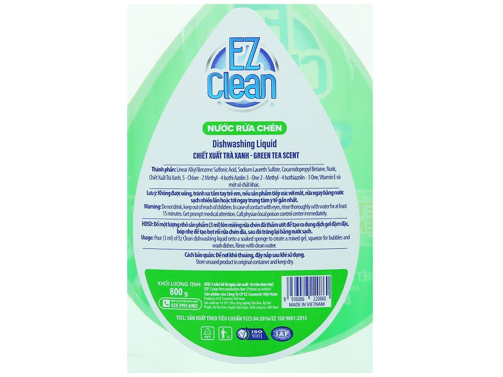 Nước rửa chén Ez Clean chiết xuất trà xanh chai 800g 3