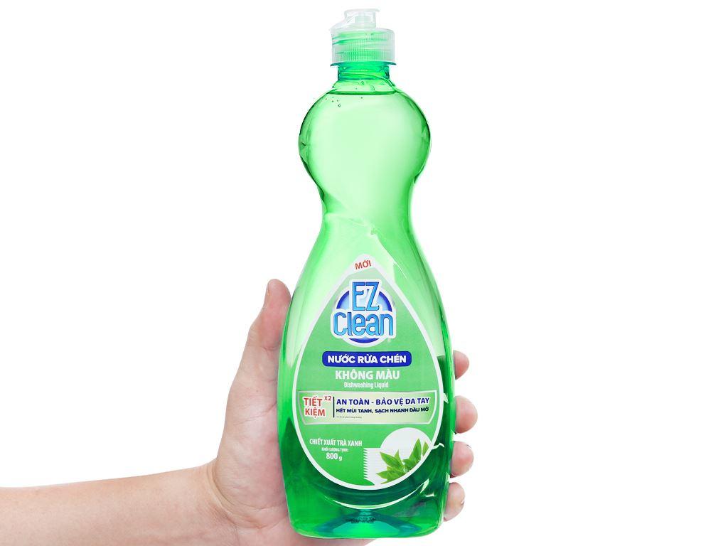 Nước rửa chén Ez Clean chiết xuất trà xanh chai 800g 4