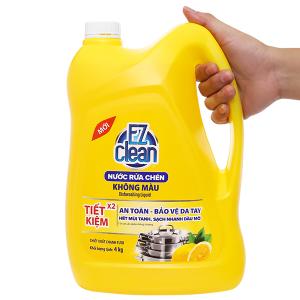 Nước rửa chén Ez Clean chiết xuất chanh tươi can 4kg