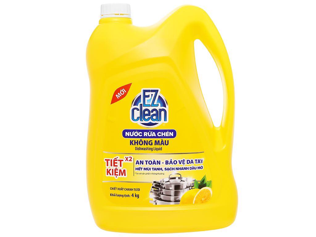 Nước rửa chén Ez Clean chiết xuất chanh tươi can 4kg 1