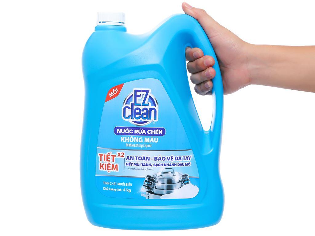 Nước rửa chén Ez Clean chiết xuất muối biển can 4kg 4