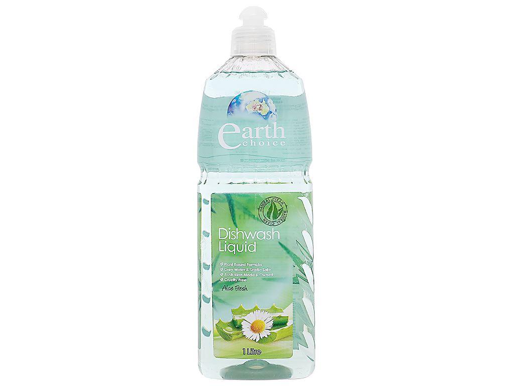 Nước rửa chén Earth Choice Aloe Fresh chai 1 lít 1