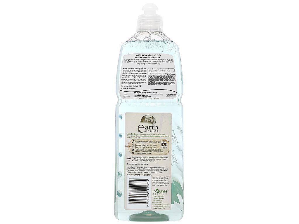 Nước rửa chén Earth Choice Aloe Fresh chai 1 lít 2