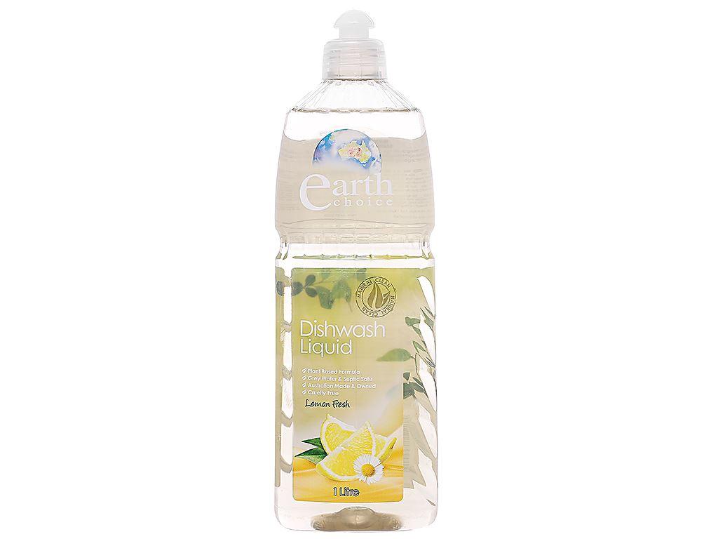 Nước rửa chén Earth Choice Lemon Fresh hương chanh chai 1 lít 1