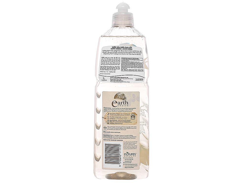 Nước rửa chén Earth Choice Lemon Fresh hương chanh chai 1 lít 2