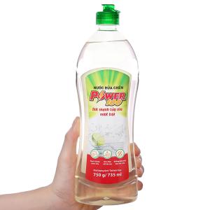 Nước rửa chén POWER100 hương chanh chai 750g