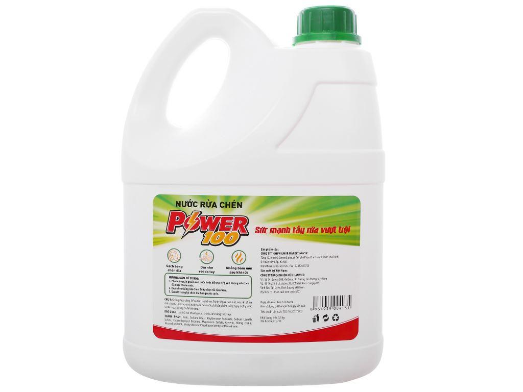 Nước rửa chén POWER100 hương chanh can 3.71 lít 2