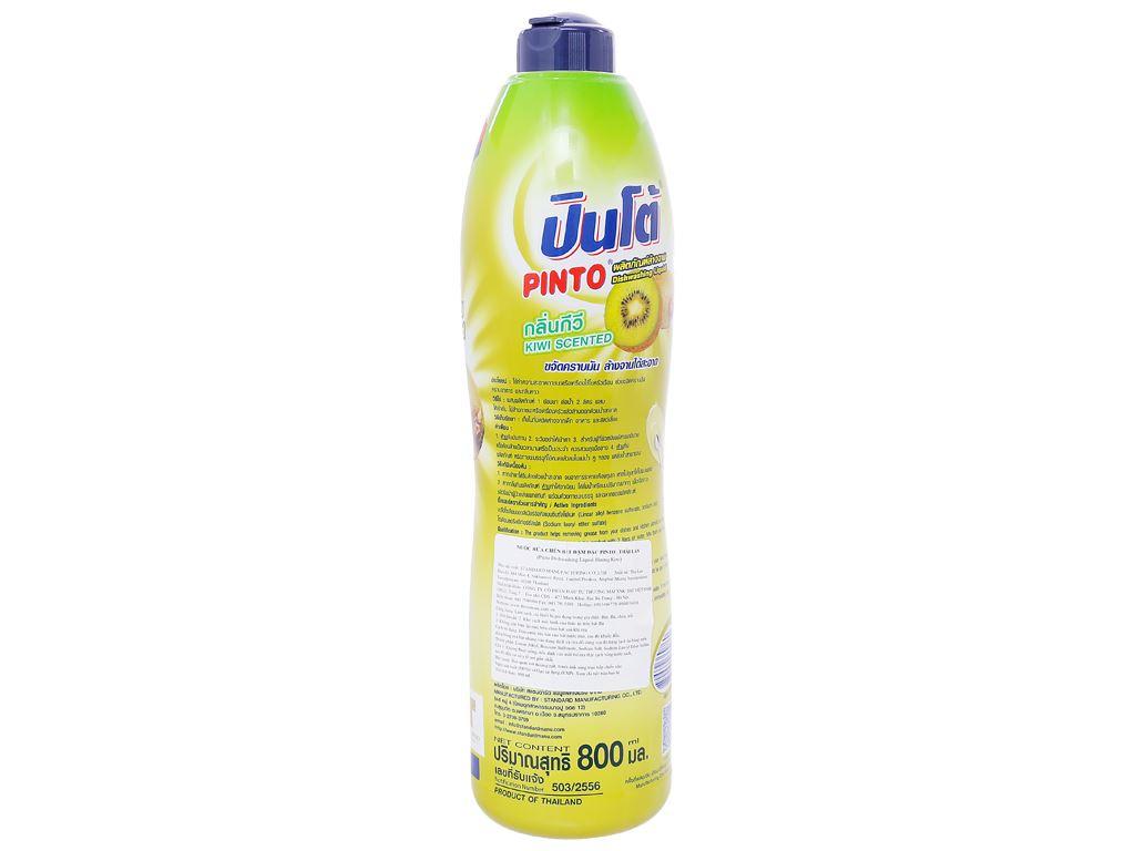 Nước rửa chén Pinto đậm đặc hương kiwi chai 800ml 2
