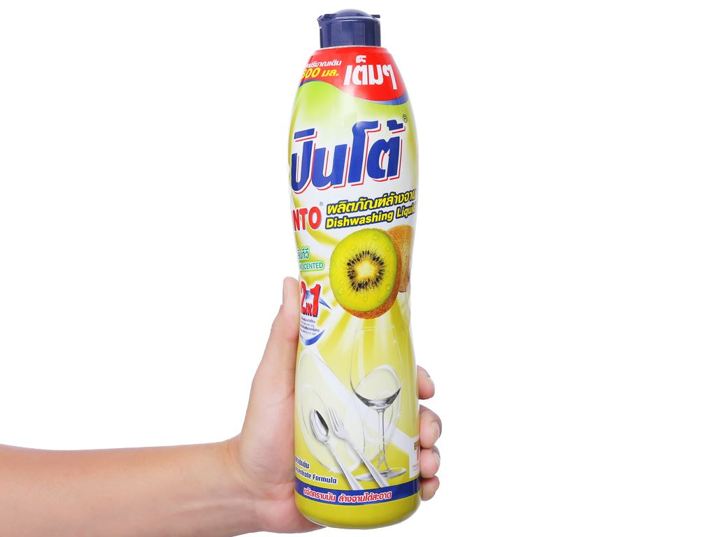 Nước rửa chén Pinto đậm đặc hương kiwi chai 800ml 3