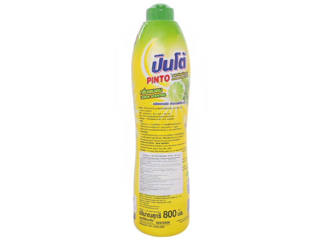 Nước rửa chén Pinto đậm đặc hương chanh chai 800ml 2