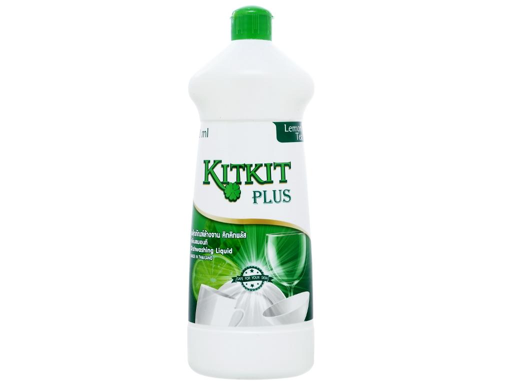 Nước rửa chén KitKit Plus hương trà xanh & chanh chai 750ml 1